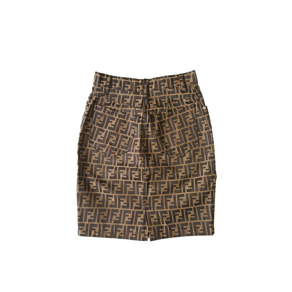 Image of Fendi Logo Skirt