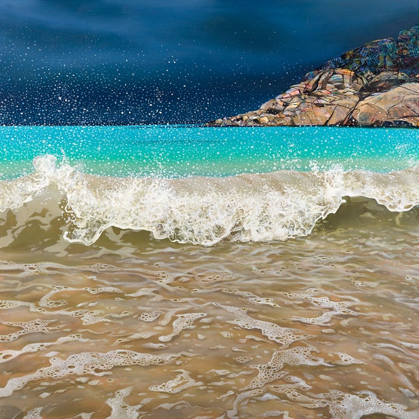 Image of Achmelvich wave giclée print ALL sizes