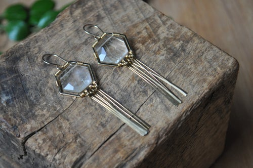 Image of The Honeycomb Dangles in Rutilated Quartz