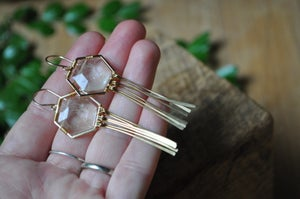 The Honeycomb Dangles in Rutilated Quartz