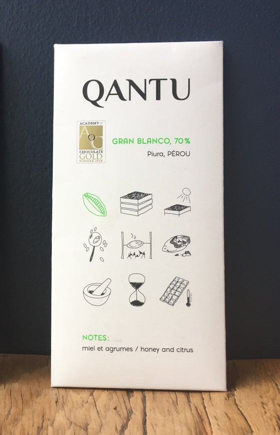 Image of Qantu Gran Blanco 70% Dark Chocolate