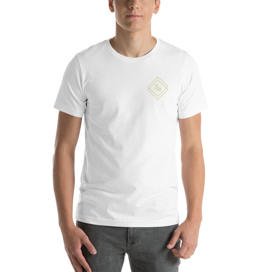 Image of Men's White & Gold Shirt