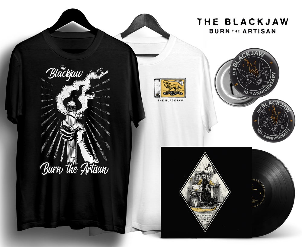 Image of Pack 2: Vinyl + T-Shirt + Bottle opener magnet + Pin badge + Digital download