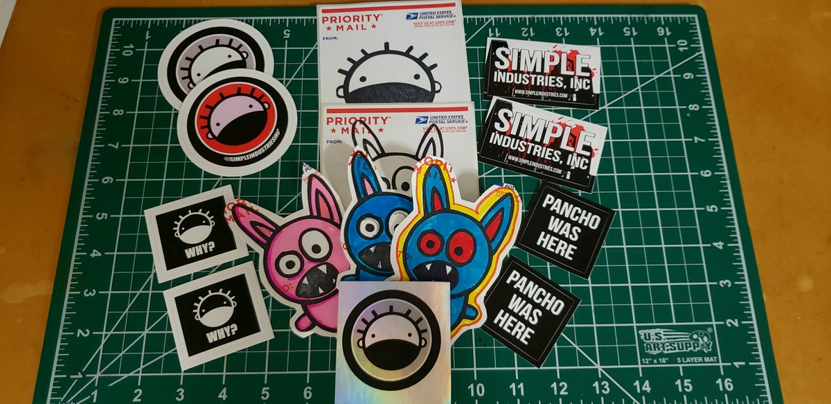 Image of Simple Slaps Sticker Pack #1