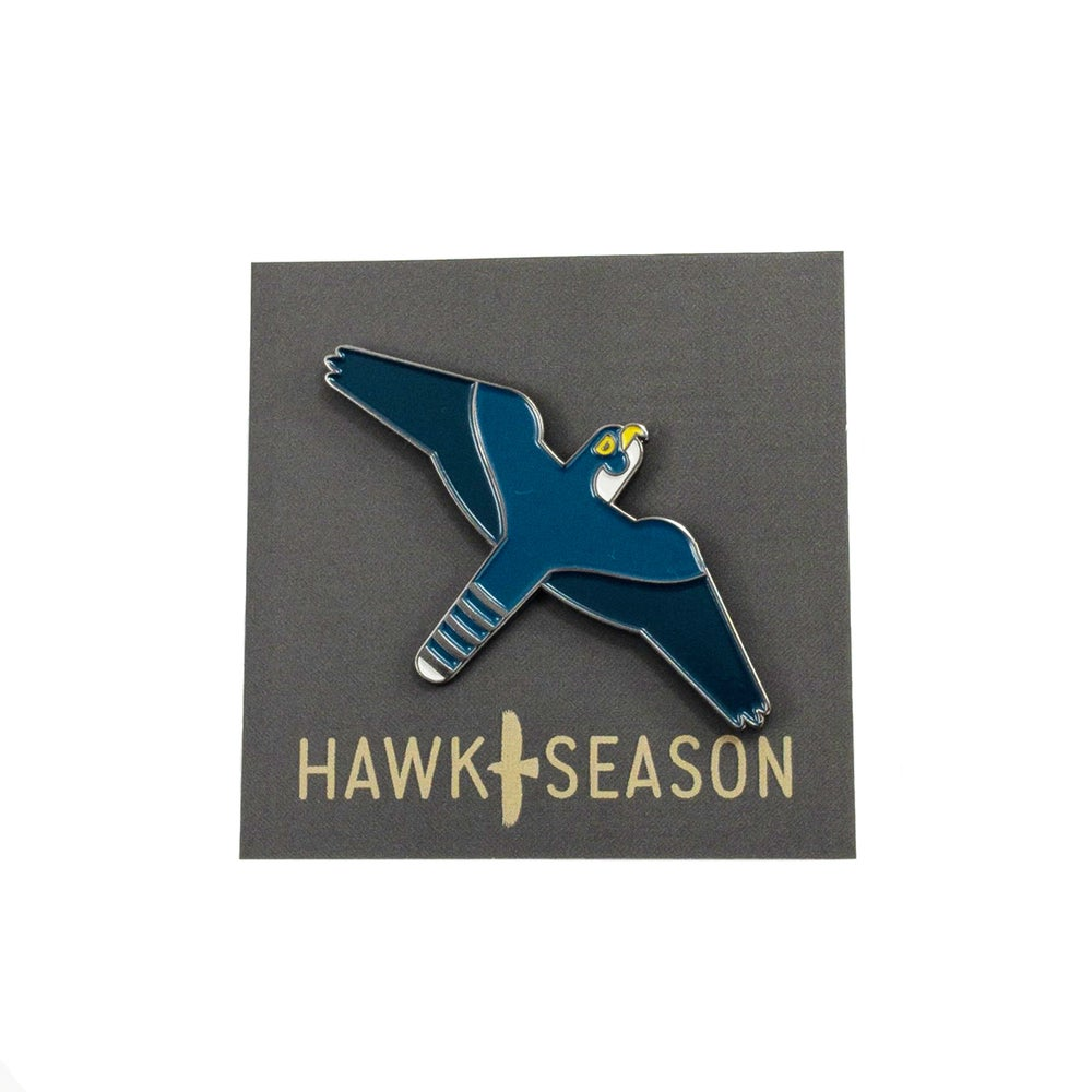 Image of Enamel Pin - Peregrine Falcon