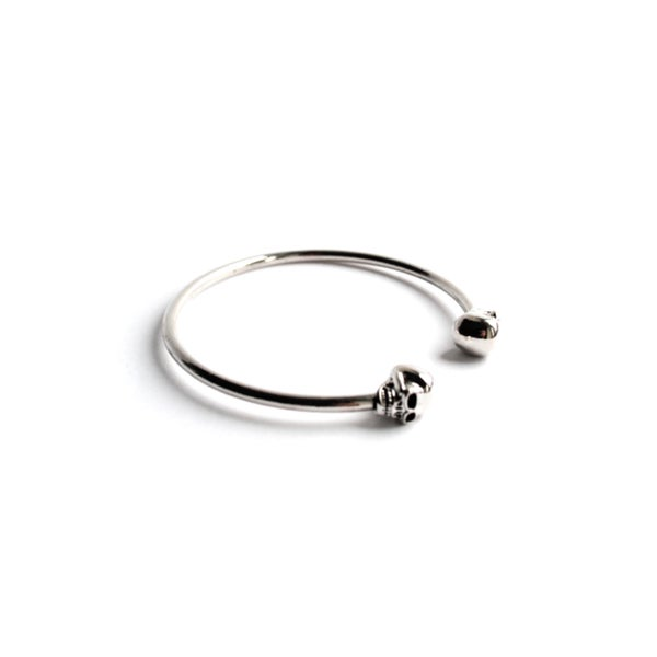 Image of Calavera Skull Bangle Bracelet (Sterling Silver)