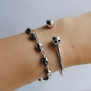 Image of Calavera bangle (sterling silver)