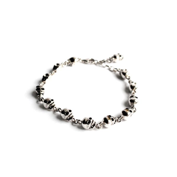 Image of Catacomb Skull Bracelet (Sterling Silver)