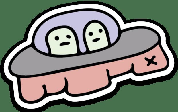 Image of Spaceship Sticker
