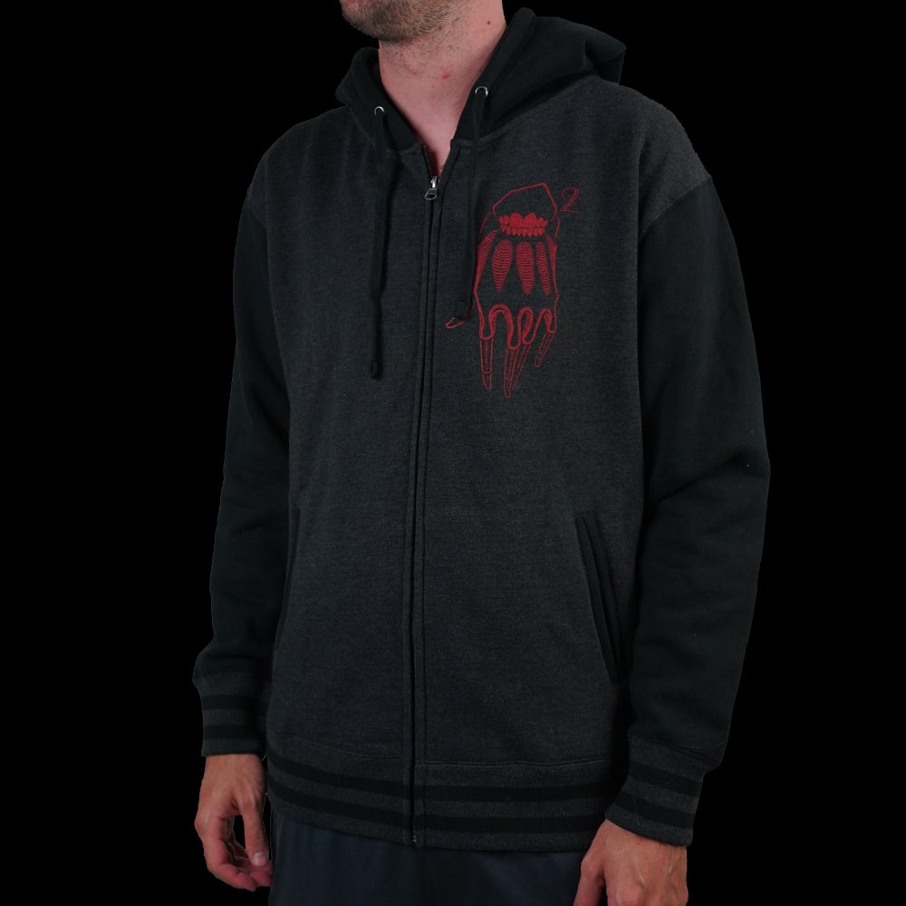 Image of DEVIL HOODIE ( VARSITY TWO TONE )