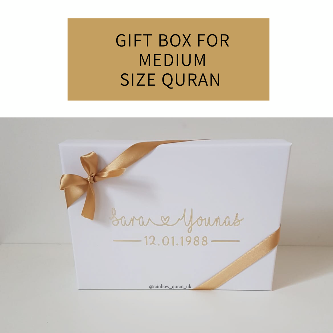 Image of Gift Box For Medium Size Quran available in white only