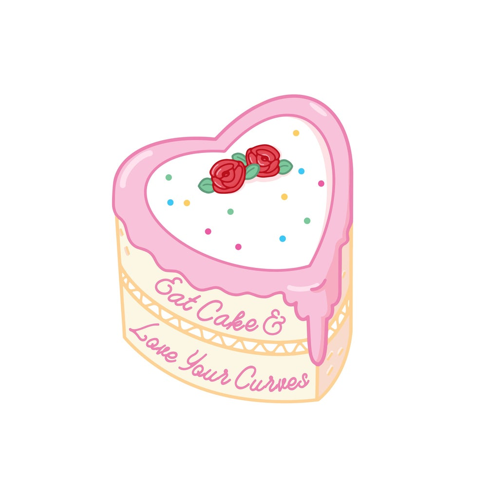 Image of Love your curves sticker