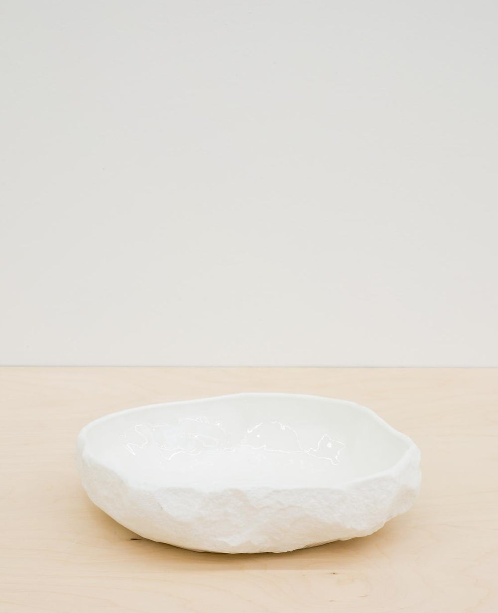 Image of Max Lamb - Crockery large flat bowl, White