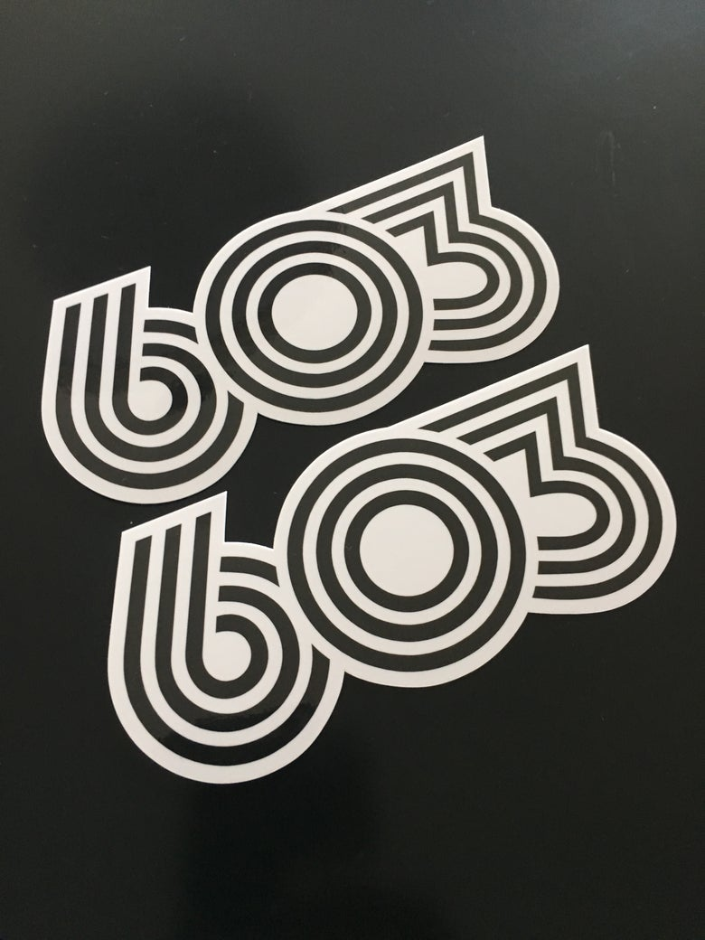 Image of Retro 603  vinyl stickers