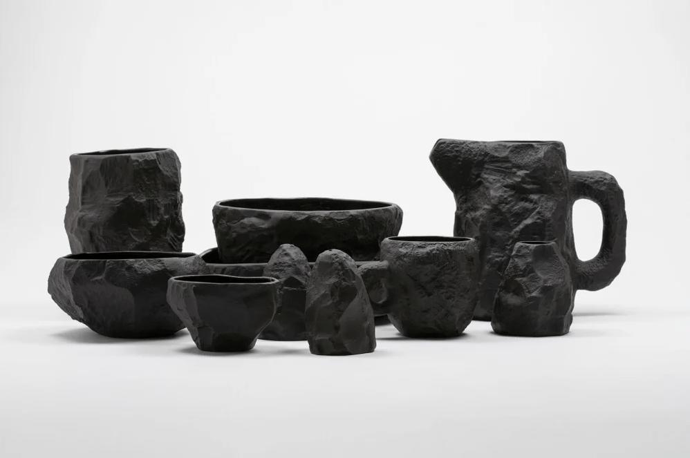 Image of Max Lamb - Complete Crockery Set - Black - 904 € - 25 % OFF