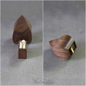 Image of Unique engagement ring box - the Wave