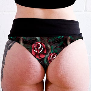 Image of Snakes & Roses High Waisted Twerk Thong Shorts