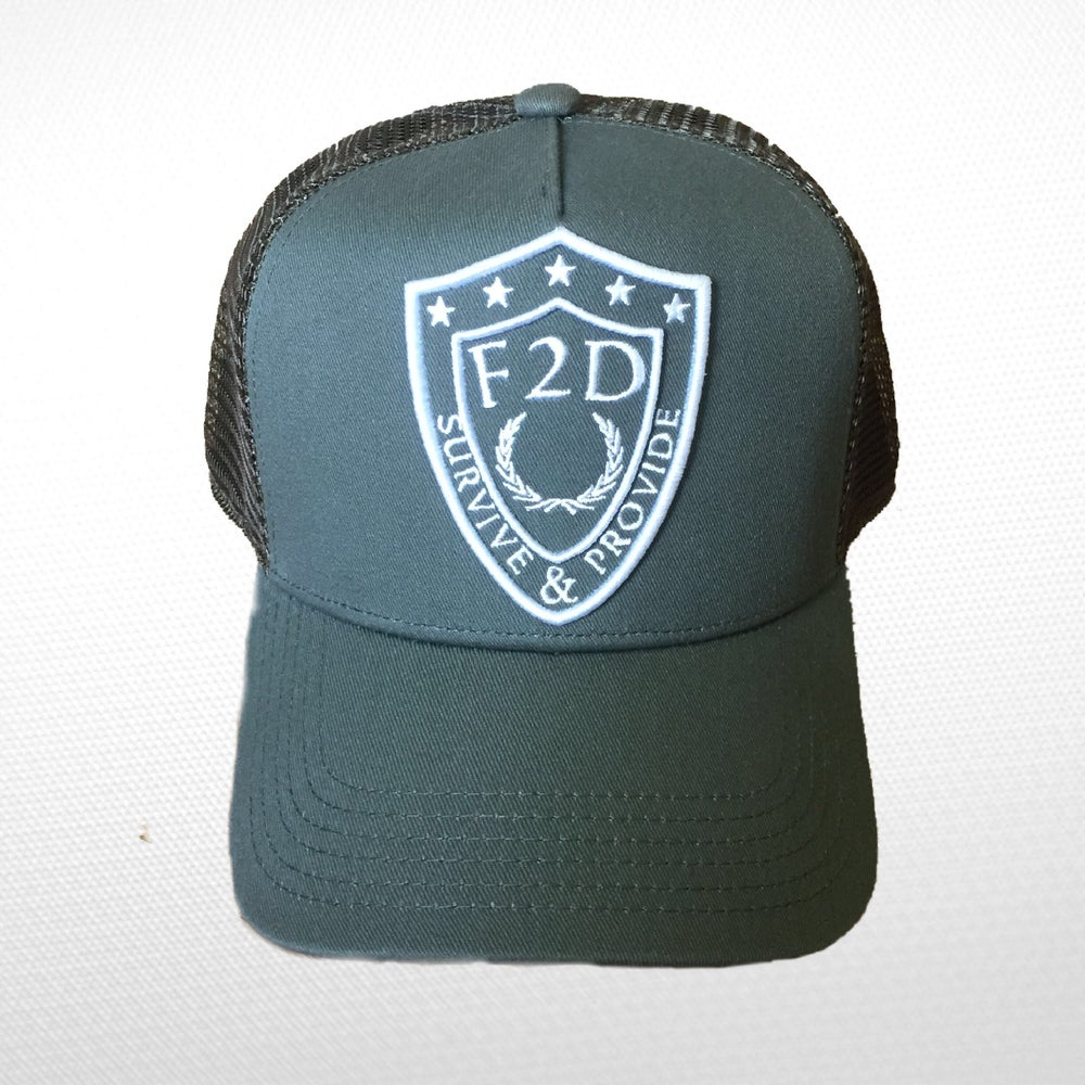 Image of F2D OLIVE GREEN  TRUCKER SNAPBACK