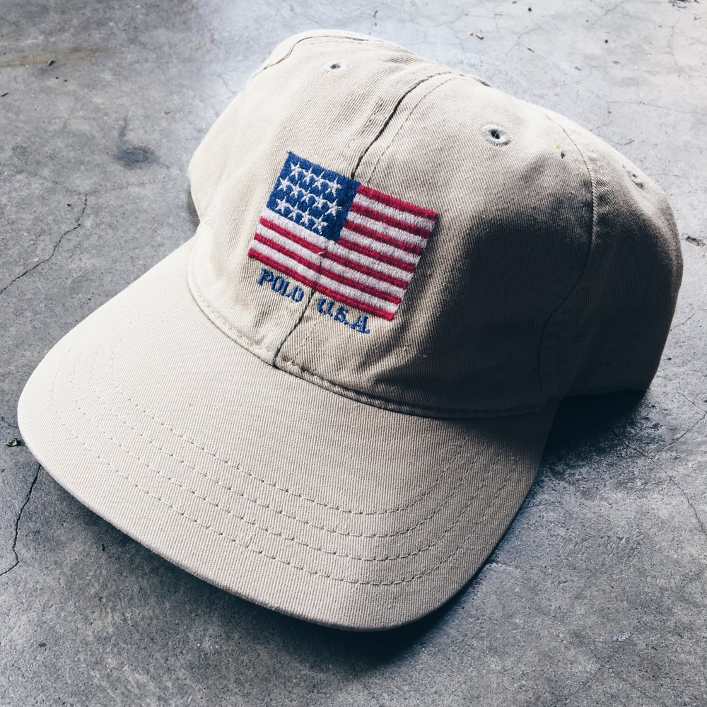 Image of Original 90's Polo USA Strapback Hat.