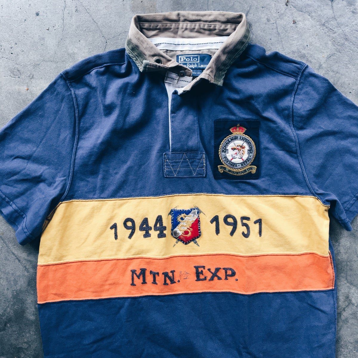 Image of Original Vintage Polo Expedition Rugby Top.