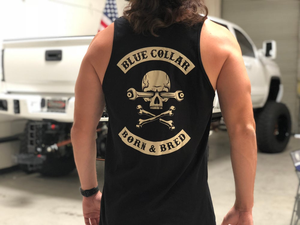 Image of BLUE COLLAR BORN AND BRED TANK TOP