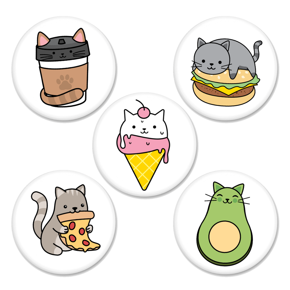 Image of Foodie Cat Buttons