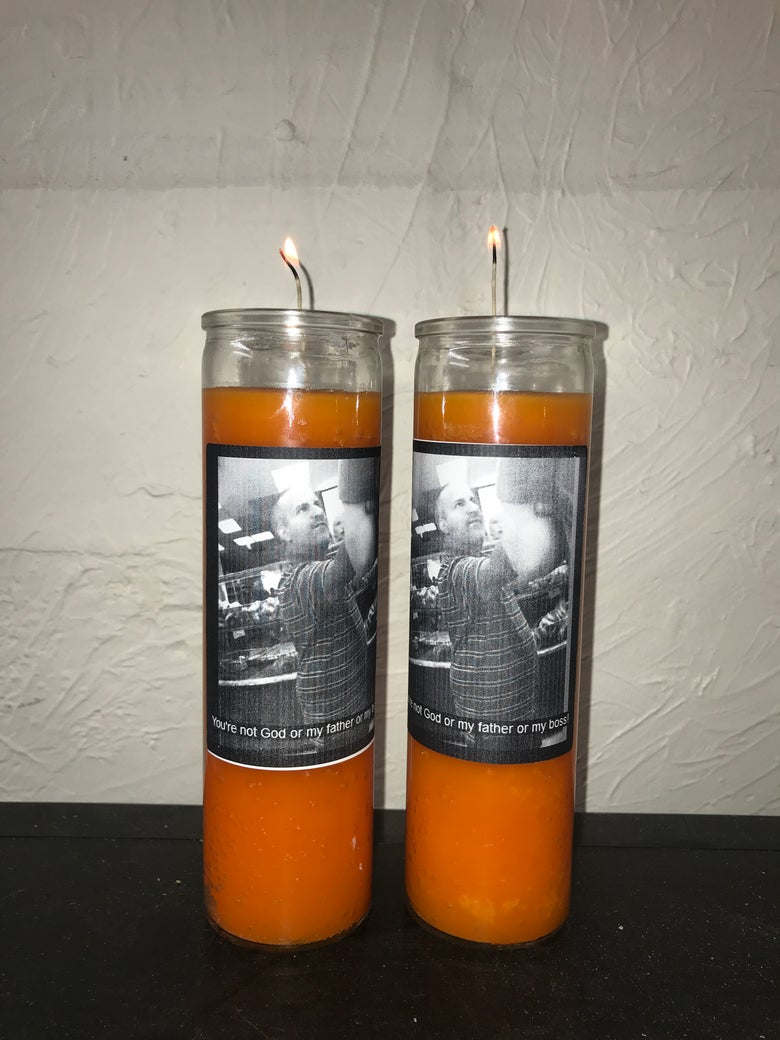 "Image of You're not God or my father or my boss! 9"" Candle - Orange"