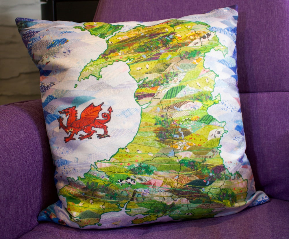 Image of Map of Wales Cushion