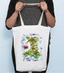 Map of Wales Bag