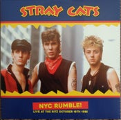 Image of LP.  Stray Cats : NYC Rumble.   Live at The Ritz, Oct 18th 1988.