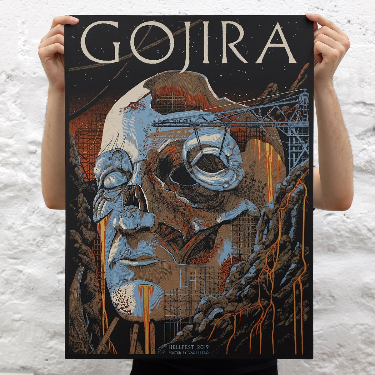 Image of Gojira Hellfest 2019 (screenprinted poster)