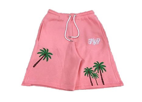 Image of Pink Palm Tree Shorts