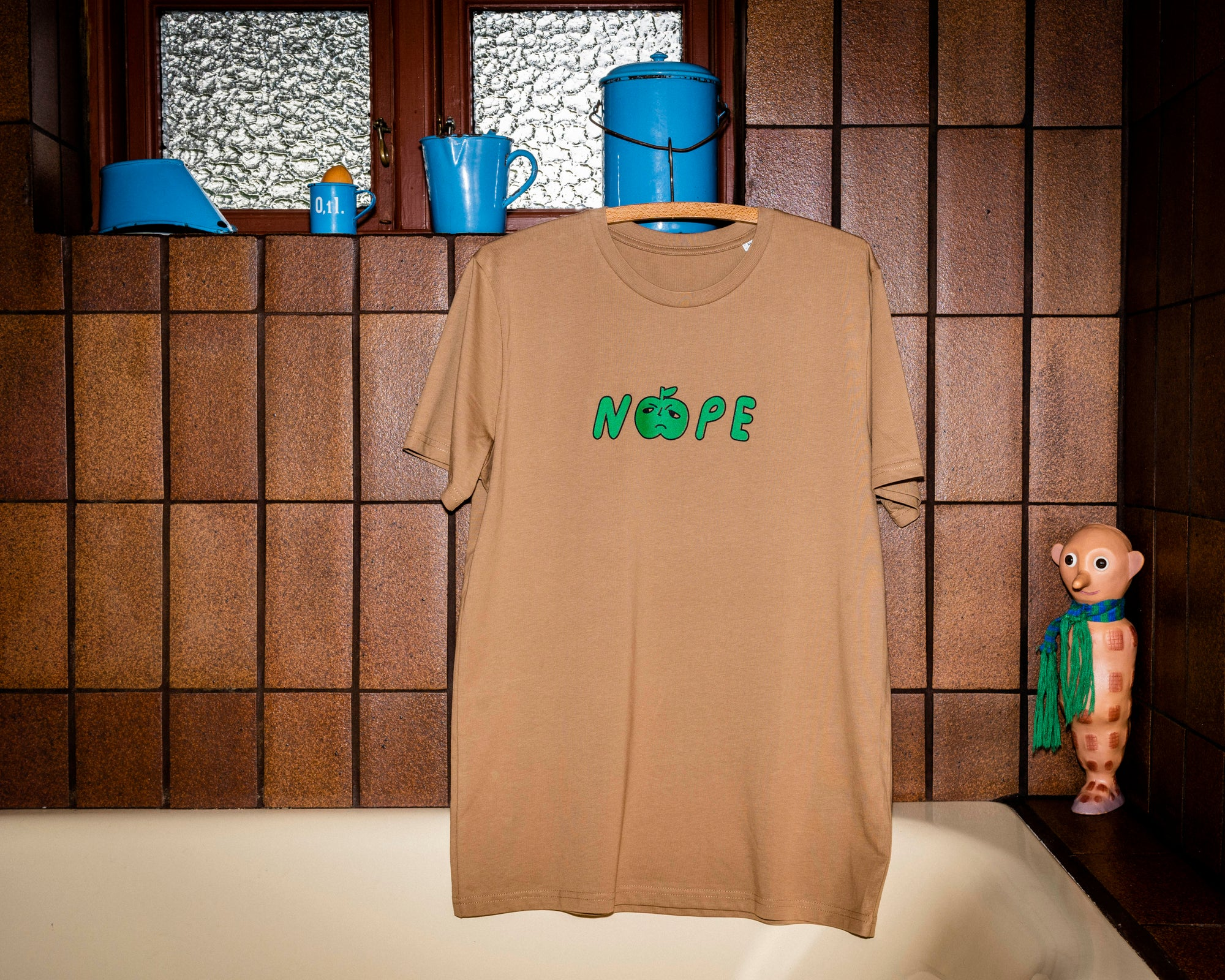 Image of Nope T-shirt Camel