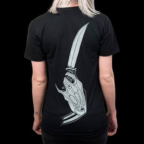 Image of FLOWER & KNIFE BONE T-SHIRT
