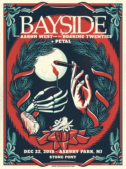 Image of Bayside - Scrooged - Screenprint