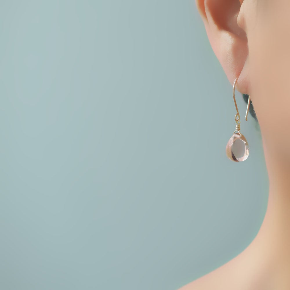 Image of Blush glass earrings