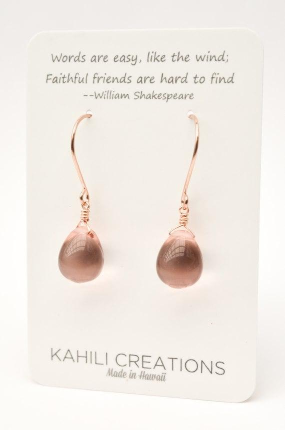 Image of Blush glass earrings