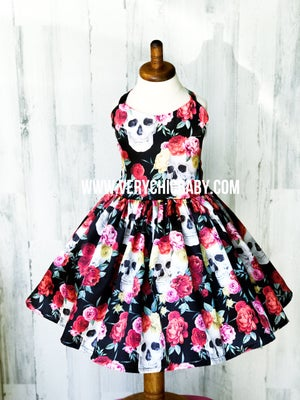 Image of Satin Skull Dress