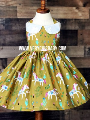 Image of Unicorn Dress w/Collar