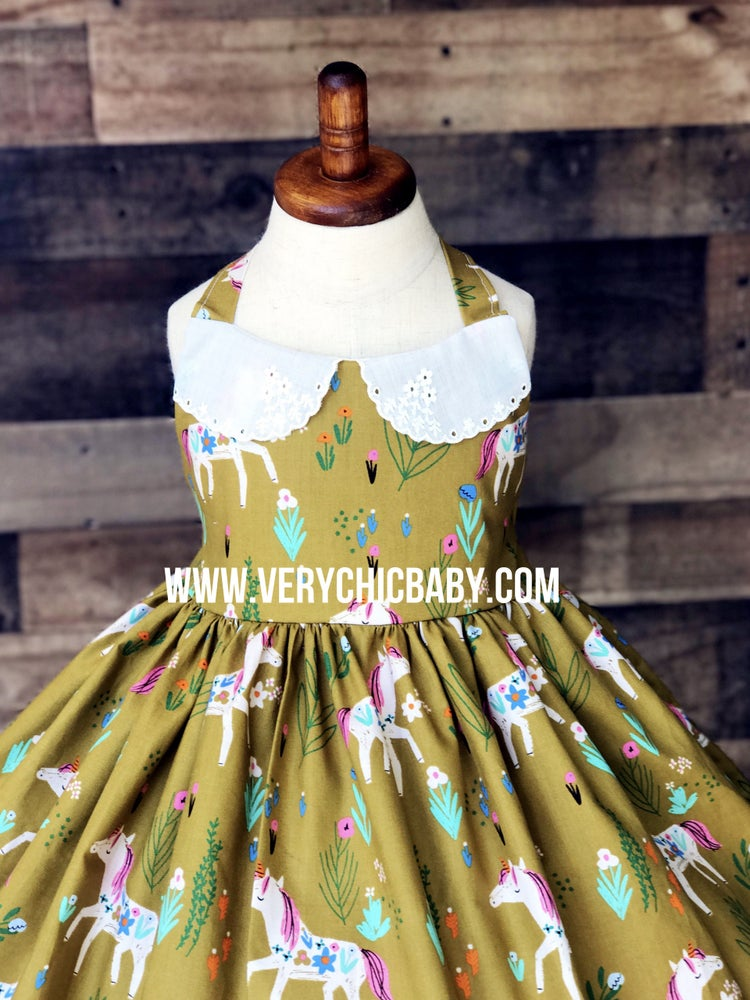 Image of Unicorn Dress w/Collar