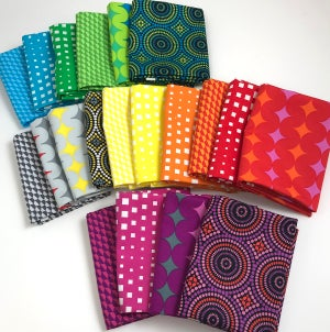 Bling Quilt Kit - Geo Pop with Black or White (Includes Pattern)