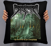 "Image of Disma ""Towards the Megalith"" 18x18 Throw pillow"