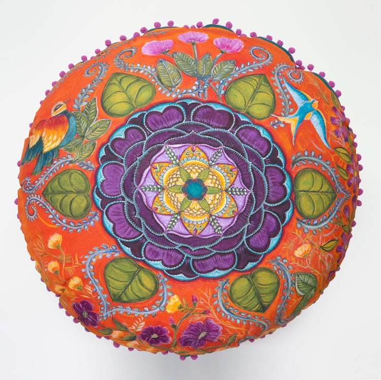 "Image of ""Rejuvenation and Joy"" -  Wild Peony Meditation Cushion"