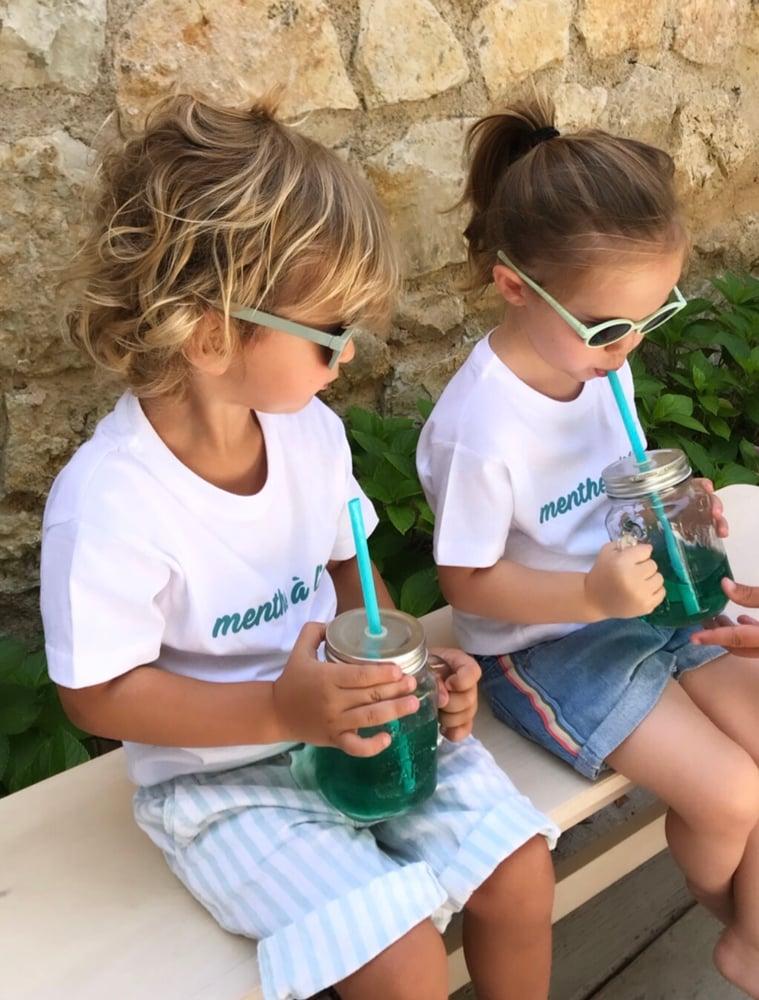 Image of Tee Shirt Enfant Menthe a l'eau