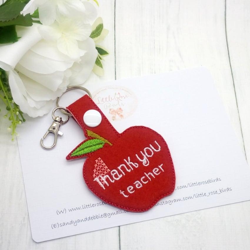Image of Thank You Teacher Apple Key chain