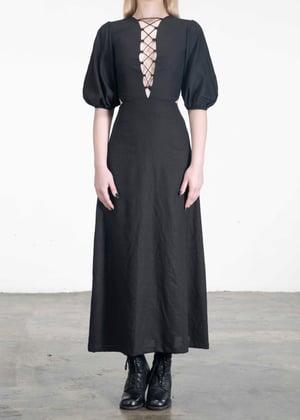 Image of Ash Lace up Midi Up Dress