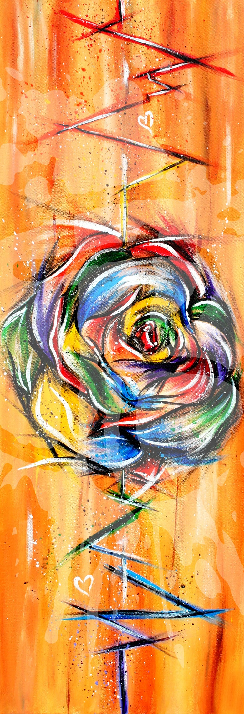 "Image of ""A Rainbow Rose"" Print"