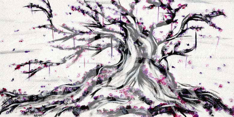 "Image of ""A Purple Tree"" Print"