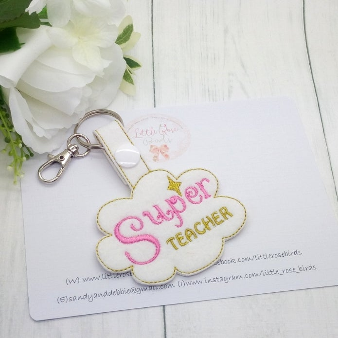 Image of Super Teacher Keyring