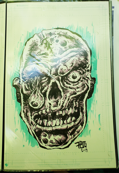 Image of Original Art- Purple Zombie